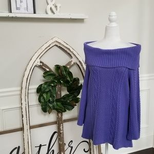Periwinkle Off Shoulder Sweater Size Medium